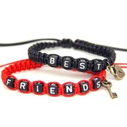 Парные плетеные браслеты для друзей - фото 10149