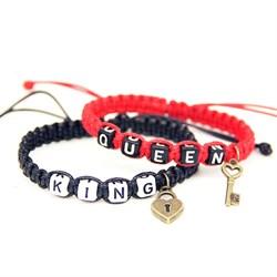 """Парные браслеты """"Король и Королева"""" с замочком и ключом - фото 10157"""