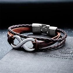 """Парные браслеты кожаные """"Любить бесконечно"""" - фото 10242"""