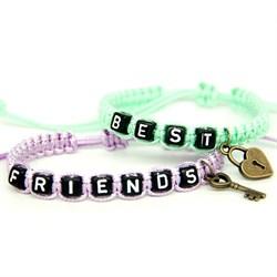 Парные плетеные браслеты для друзей 2 - фото 10537
