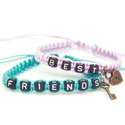 Парные плетеные браслеты для друзей 3 - фото 10542