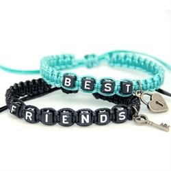 Парные плетеные браслеты для друзей 4 - фото 10547