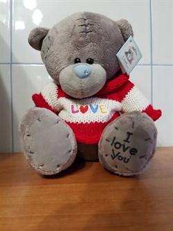 """Мишка Тедди """"I love you"""" в красном свитерке - фото 10685"""