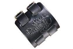 """Кожаный мужской браслет черный """"Скорпион"""" - фото 10821"""