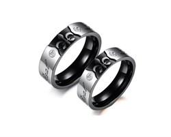 """Парные кольца для двоих """"Короли любви"""" - фото 11263"""
