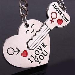 "Парный брелок ""Ключ от сердца"" - фото 11267"