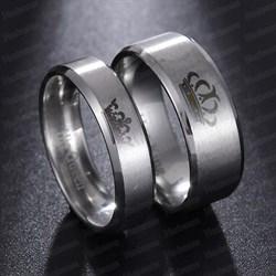"""Кольца для влюбленных """"Её король\Его королева"""" 2 - фото 11426"""