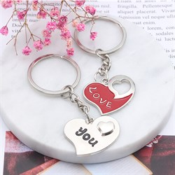 """Брелки для влюбленных """"Любящие сердца"""" - фото 11544"""