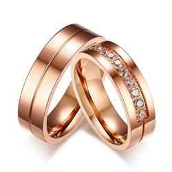 """Парные кольца """"Любовь важнее всего 2"""" - фото 12101"""
