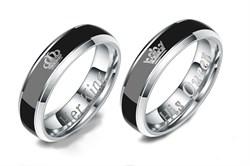 """Парные кольца хамелеоны """"Её король/Его королева"""" - фото 12769"""