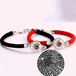 """Парные браслеты """"Я люблю тебя"""" с проекцией на 100 языках - фото 12841"""