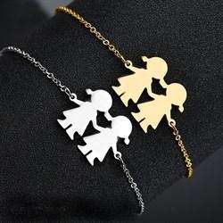 Парные браслеты из стали для 2х лучших подружек - фото 12860