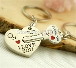 "Парный брелок ""Ключ от сердца"" - фото 5027"