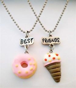 """Кулоны еда """"Пончик и мороженное"""" - фото 6751"""