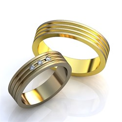"""Обручальные кольца """"Линии любви"""" - фото 6819"""