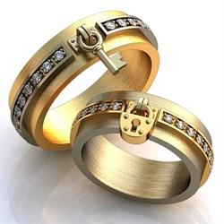"""Обручальные кольца """"Ключ от твоего сердца"""" - фото 6890"""