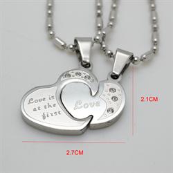 """Парные кулончики """"Love"""" - фото 8312"""
