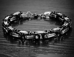 стальная мужская цепь на руку