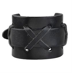 """Черный широкий мужской браслет """"Крестоносец"""" - фото 9545"""