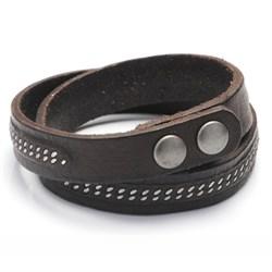 Оригинальный мужской браслет из кожи - фото 9637
