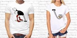"Парная футболка ""Страусы"" - фото 9878"
