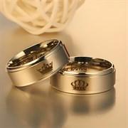 """Кольца для влюбленных """"Её король\Его королева"""" 2"""