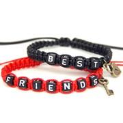 Парные плетеные браслеты для друзей