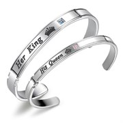 "Парные браслеты ""King&Queen"" silver"