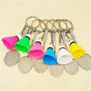 """Брелки для 6 друзей """"Ракетки с разноцветными воланчиками"""""""