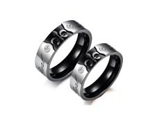 """Парные кольца для двоих """"Короли любви"""""""