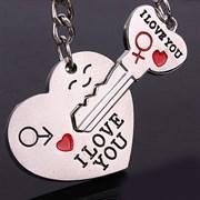 """Парный брелок """"Ключ от сердца"""""""