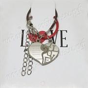 """Парные браслеты """"Сердце из двух половинок"""""""