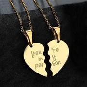 """Парные кулоны """"Ты мой человек"""" gold"""