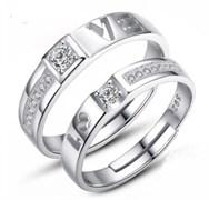 """Парные кольца безразмерные """"Love"""""""