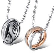 парные кулоны кольца