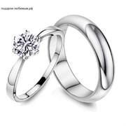 Кольца для влюблённых из серебра