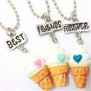 """Кулоны для трёх подруг """"Мороженое"""""""