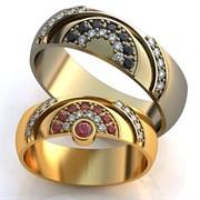"""Обручальные кольца """"Мы одно целое"""""""