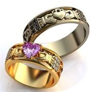 """Обручальные кольца """"Ты навсегда в моем сердце"""""""