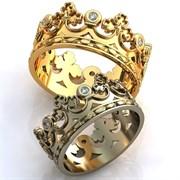 """Обручальные кольца """"Ее величество любовь"""""""