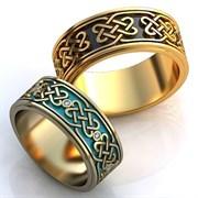 """Обручальные кольца """"Любовный орнамент"""""""
