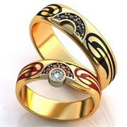 """Обручальные кольца """"Две половинки одного целого"""""""