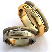 """Обручальные кольца """"С датой свадьбы"""""""