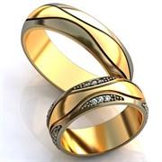 """Обручальные кольца """"Яркая любовь"""""""