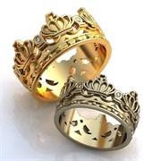 """Обручальные кольца """"Короли любви"""""""