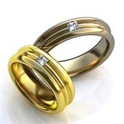 """Обручальные кольца """"Любящая пара"""""""