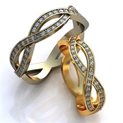 """Обручальные кольца """"Бесконечность любви"""""""