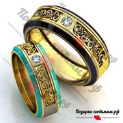 парные свадебные кольца