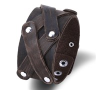Широкий мужской браслет с заклепками