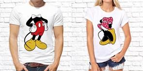 """Парная футболка """"Микки и Минни2"""""""